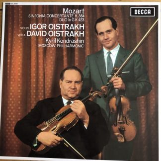 SXL 6088 Mozart Sinfonia Concertante