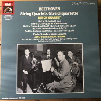 EX 137 2903063 Beethoven String Quartets Violin Sonatas Busch Quartet 5 LP