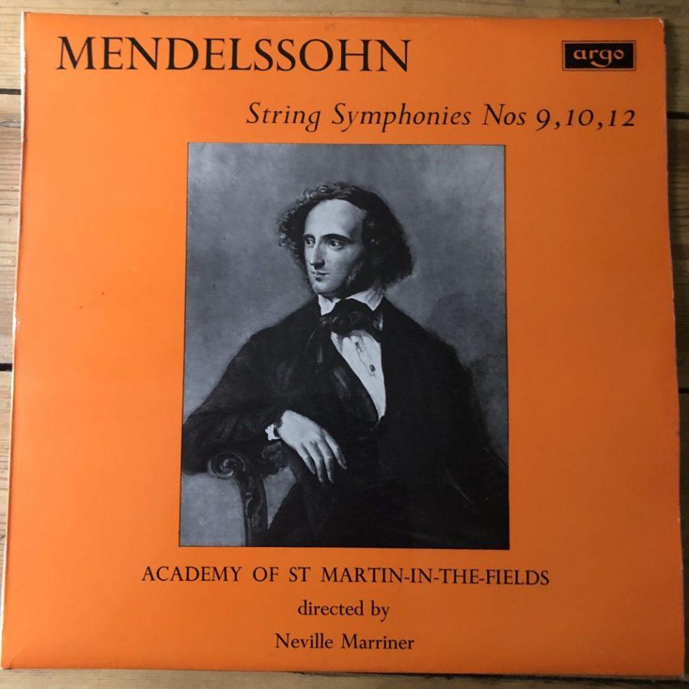 ZRG 5467 Mendelssohn String Symphonies Nos. 9, 10 & 12 / Marriner GRVD OVAL