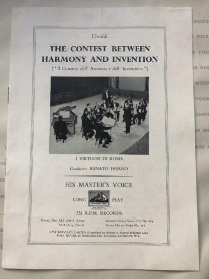 ASD 367-69 Vivaldi The Contest Between Harmony & Invention