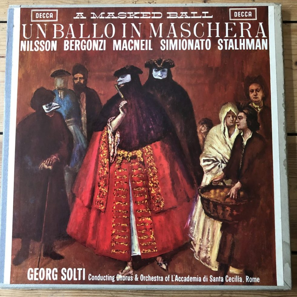 SET 215-7 Verdi Un Ballo in Maschera / Solti W/B 3 LP box set