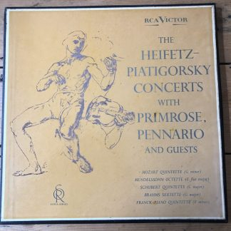 LDS 6159 The Heifetz-Piatigorsky Concerts SORIA SERIES GROOVED R/S 3 LP box