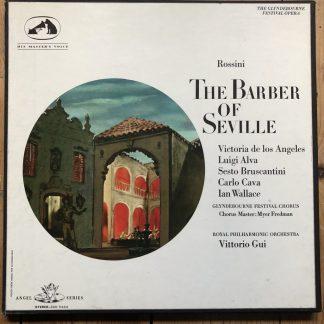 SAN 114-6 Rossini The Barber of Seville / De Los Angeles, etc. / Gui / 3 LP box