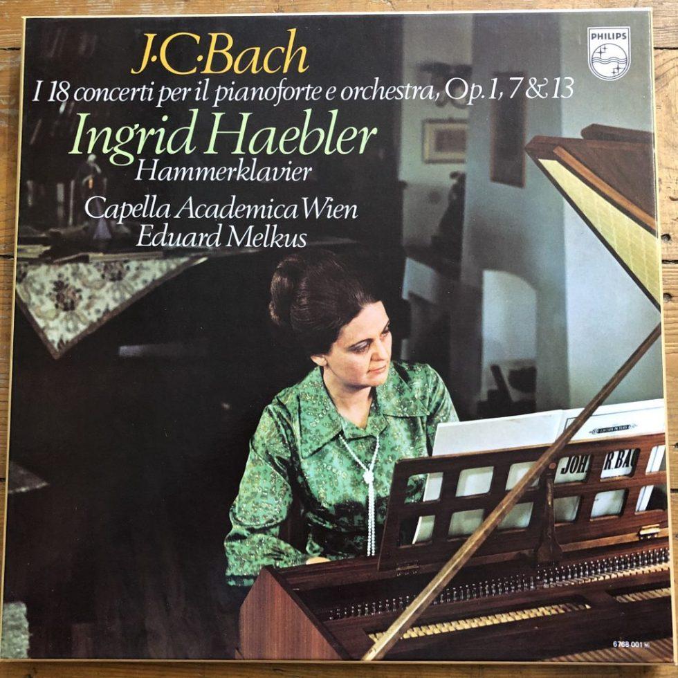 6768 001 J.C. Bach Piano Concertos / Ingrid Haebler / Melkus
