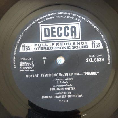 """SXL 6539 Mozart """"Prague"""" / Schubert"""