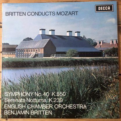 SXL 6372 Britten Conducts Mozart W/B