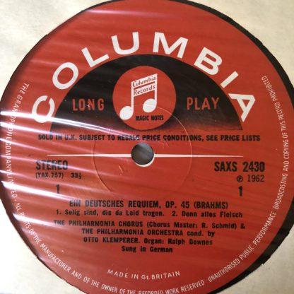 SAX 2430/1 Brahms German Requiem / Klemperer