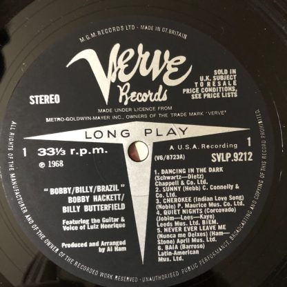 SVLP 9212 Bobby Hackett / Billy Butterfield