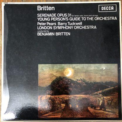 SXL 6110 Britten Serenade / Young Person's Guide / Britten W/B
