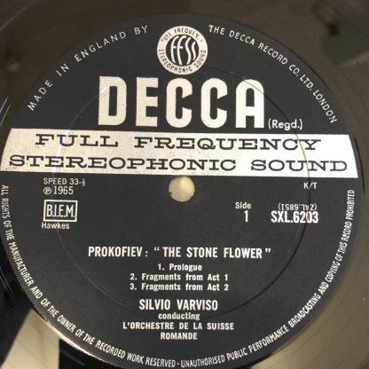 SXL 6203 Prokofiev The Stone Flower Selections