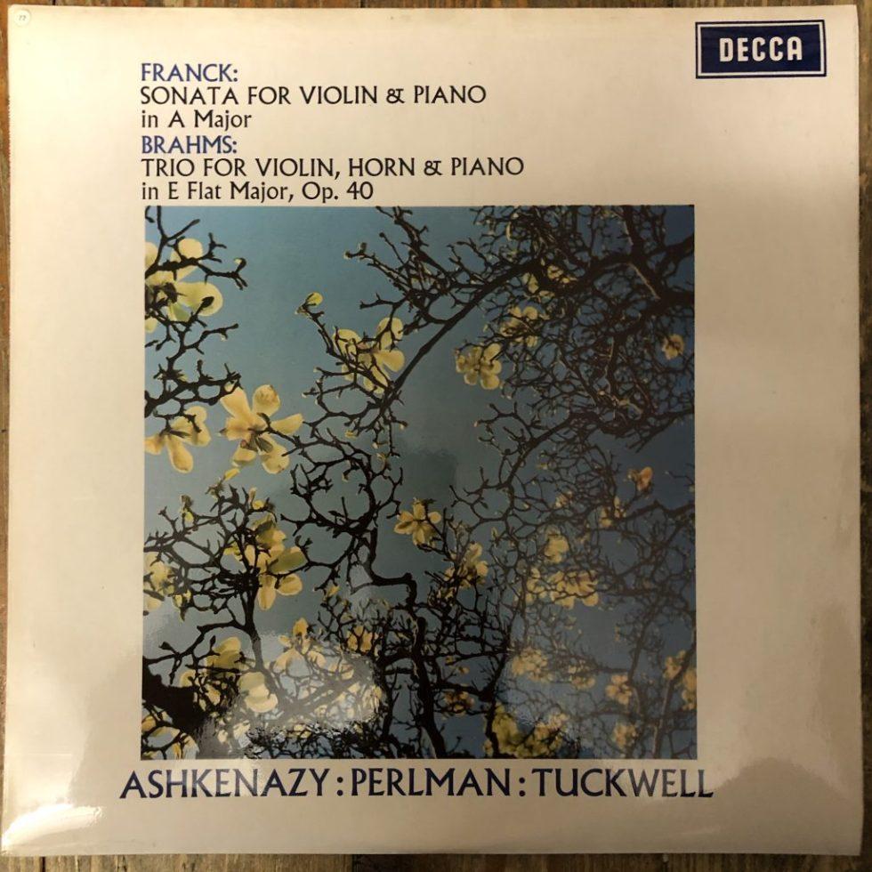 SXL 6408 Franck / Brahms / Ashkenazy / Perlman W/B