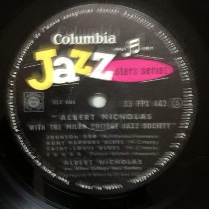 FPX 142 Albert Nicholas with Milan College Jazz Society