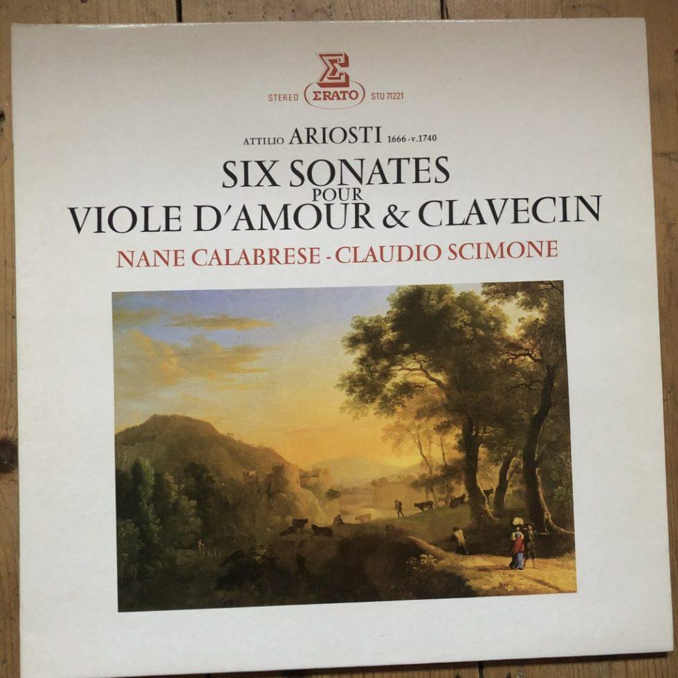 STU 71221 Attilio Ariosti 6 Sonatas For Viole D'Amour & Clavecin