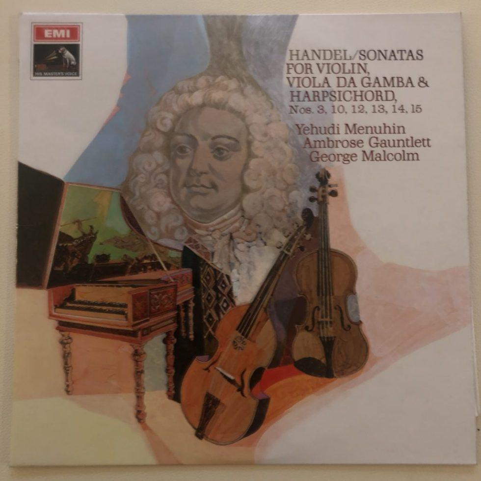 ASD 2384 Handel Violin Sonatas Nos. 1 - 6 / Menuhin / Macolm