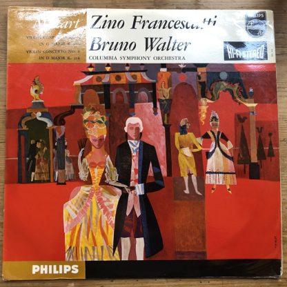 SABL 150 Mozart Violin Concertos 3 & 4 / Francescatti / Walter HI-FI STEREO