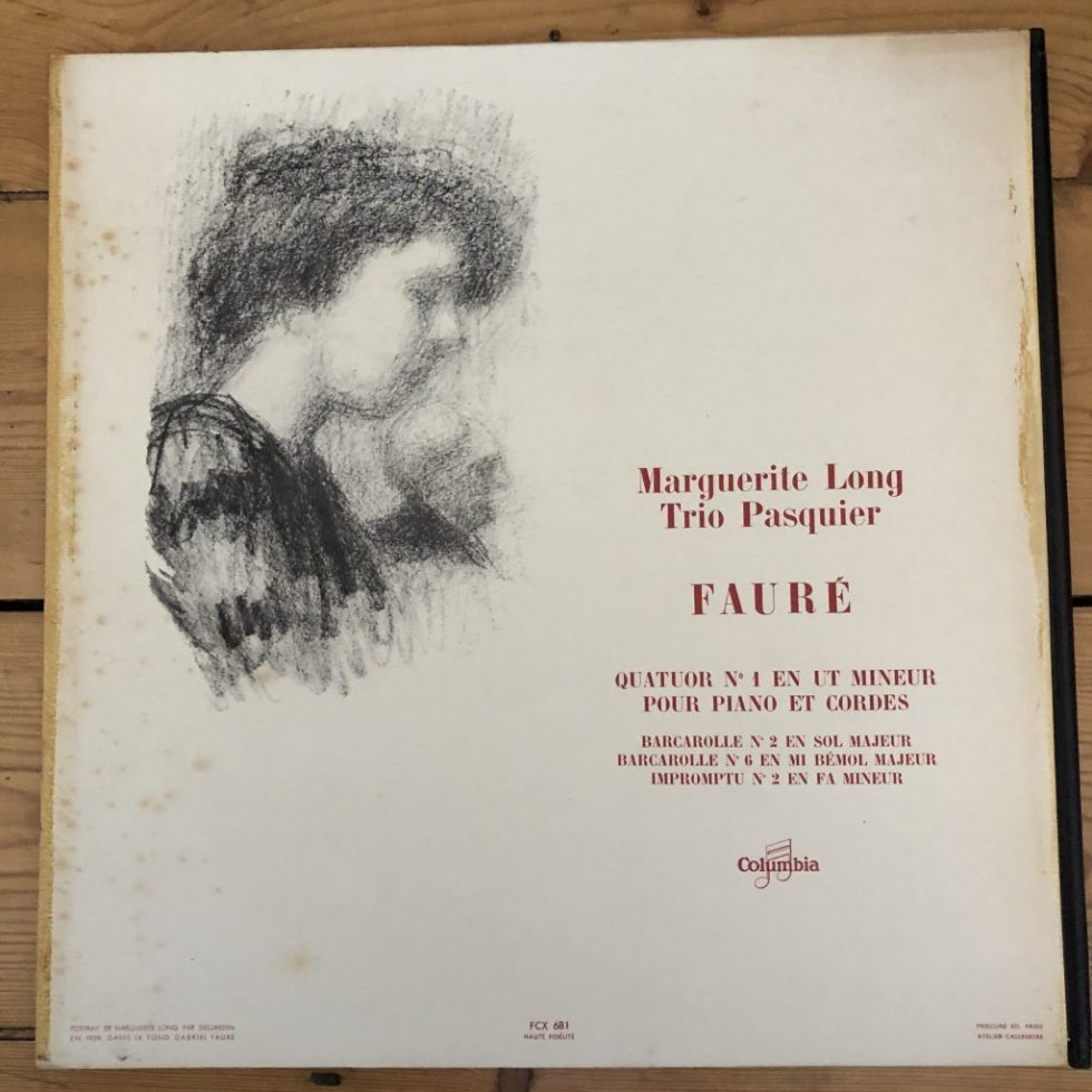 FCX 681 Fauré Quartet No. 1 for Piano and Strings