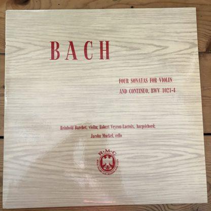 CM 47 Bach 4 Sonatas For Violin and Continuo BWV 1021-4 / Reinhold Barchet