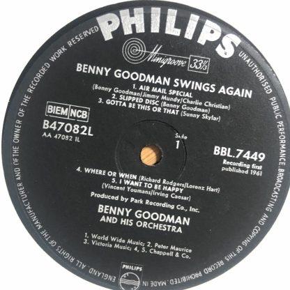 BBL 7449 Benny Goodman Swings Again