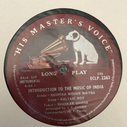 ECLP 2263 Introduction to the Music of India