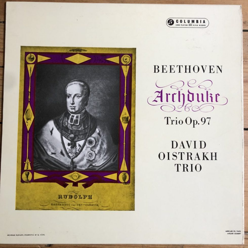 33CX 1643 Beethoven Archduke Trio / David Oistrakh