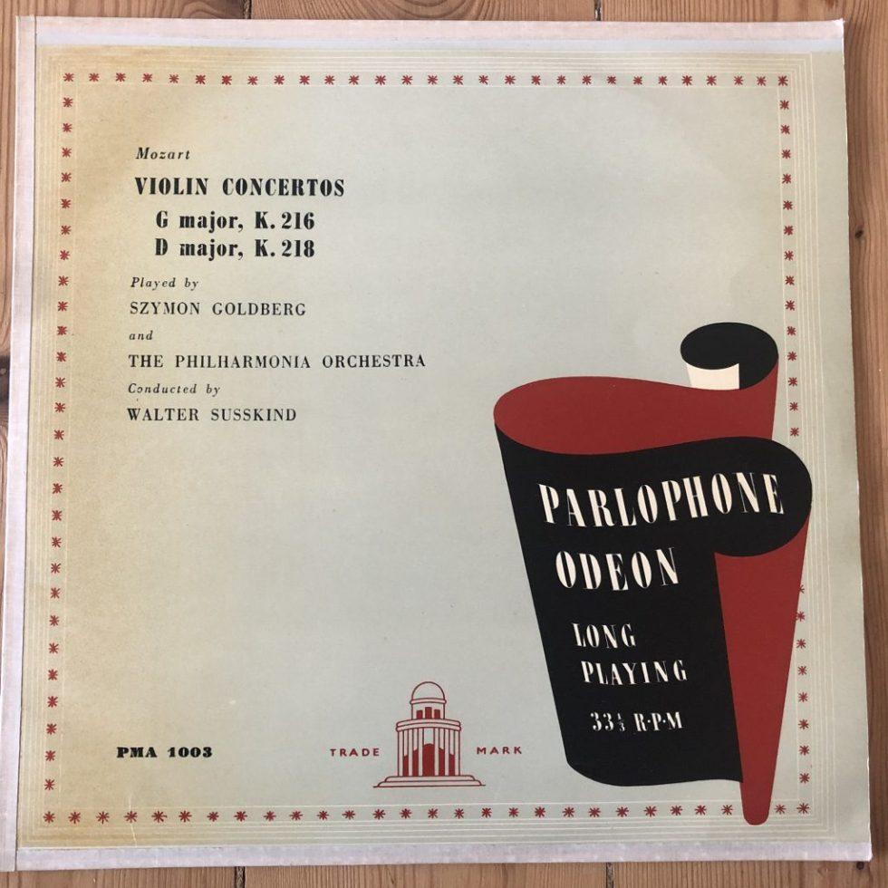 PMA 1003 Mozart Violin Concertos in G & D / Szymon Goldberg / Suskind
