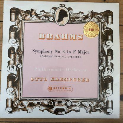 SAX 2351 Brahms Symphony No. 3 etc. / Klemperer / Philharmonia B/S