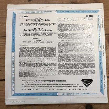 SXL 2044 Chopin Les Sylphides / Delibes La Source