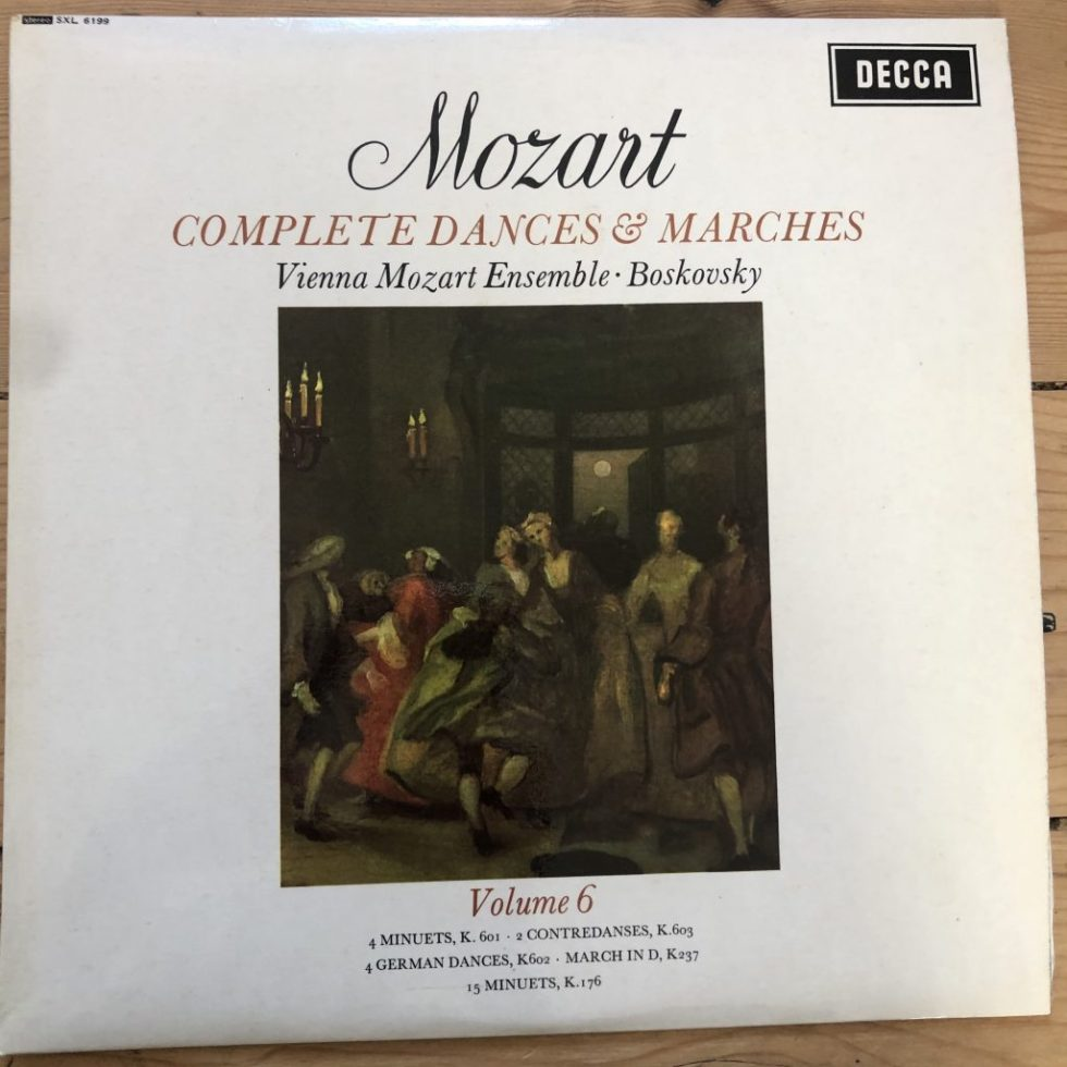 SXL 6199 Mozart Complete Dances & Marches Vol. 6 / Boskovsky W/B