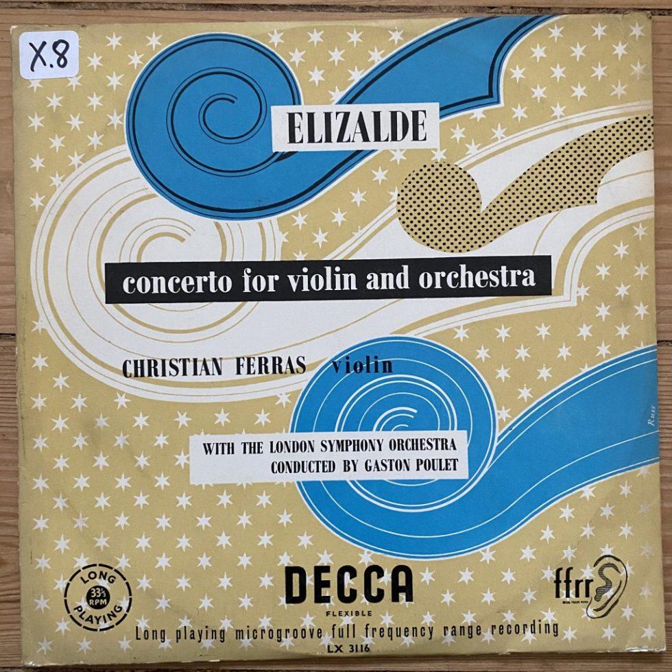 LX 3116 Elizalde Violin Concerto