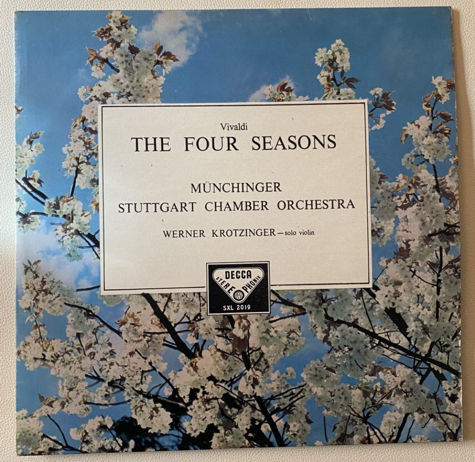 SXL2019 Vivaldi The Four Seasons / Munchinger / Stuttgart CO W/B