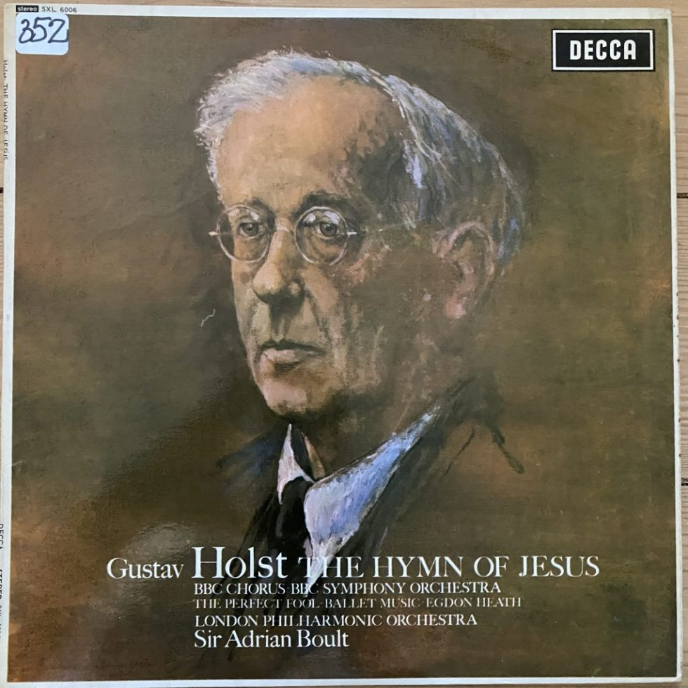 SXL 6006 Holst The Hymn of Jesus etc. / Boult W/B