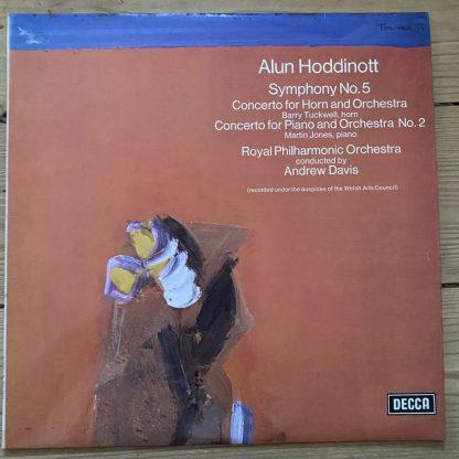 SXL 6606 Hoddinott Symphony No. 5 etc. / Tuckwell / Jones / Davis