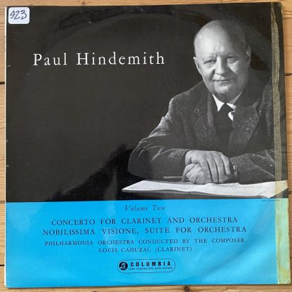 33CX 1533 Hindemith Orchestral Music Vol. 2 B/G