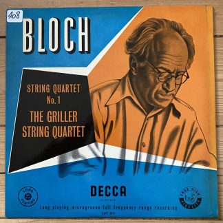 LXT 5071 Bloch String Quartet No. 1 / Griller Quartet O/G