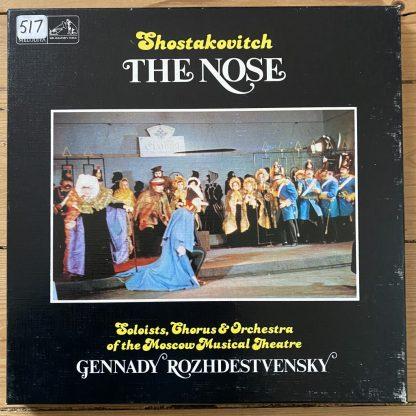 SLS 5088 Shostakovich The Nose / Rozhdestvensky / Moscow Musical Theatre 2 LP box set