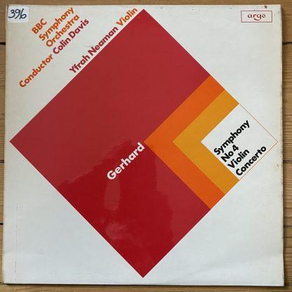 ZRG 701 Gerhard Symphony No. 4 / Violin Concerto / Neaman HP List