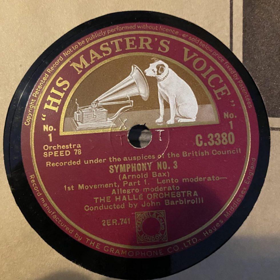 C 3380/85 Bax Symphony No 3