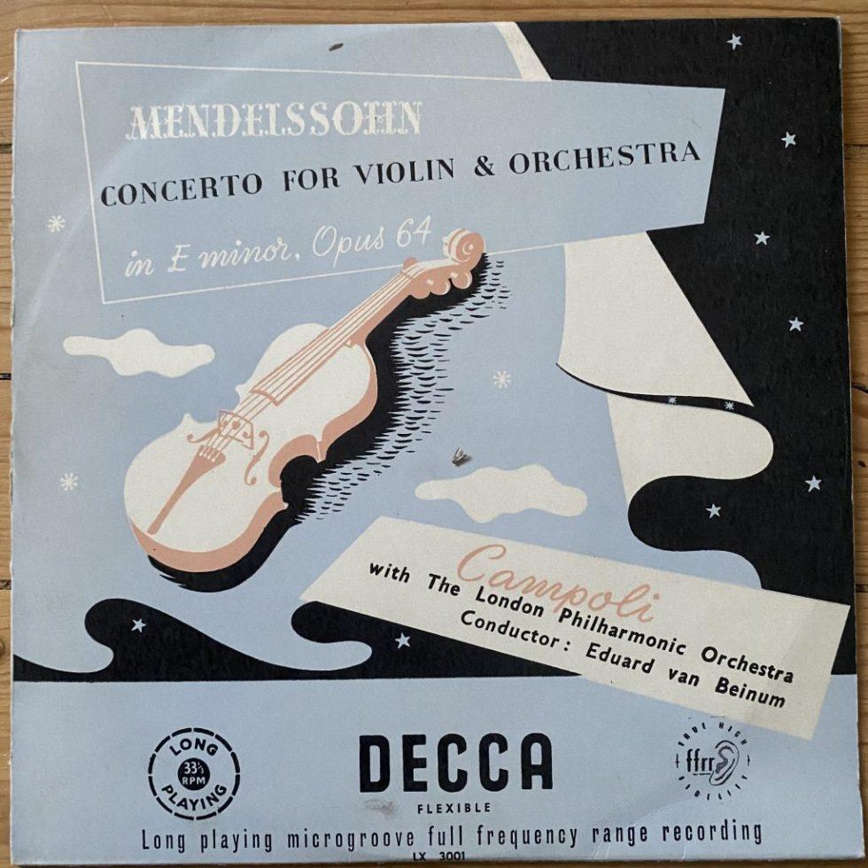 LX 3001 Mendelssohn Concerto For Violin / Campoli