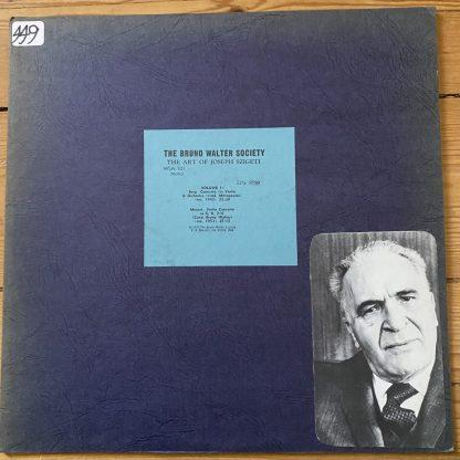 WSA-701 The Art of Josef Szigeti Vol. 1