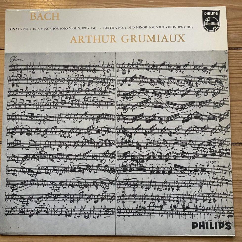 SAL 3473 Bach Sonata 2 & Partita 2 for Solo Violin / Grumiaux