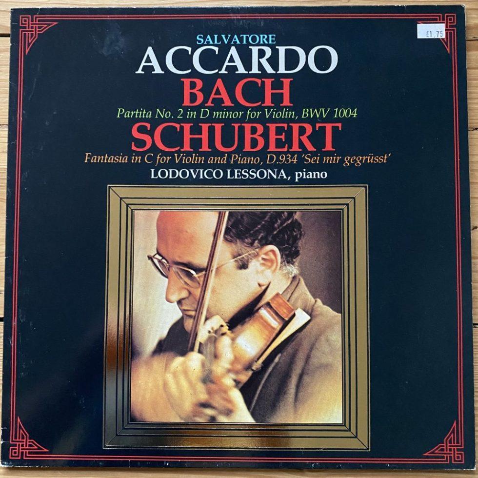 321869 Bach Partita No. 2 / Schubert Fantasia / Salvatore Accardo