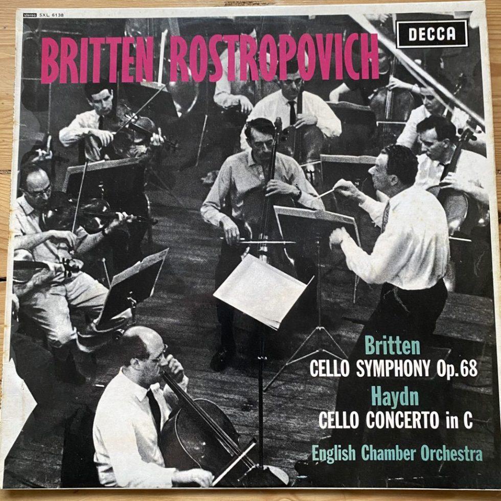 SXL 6138 Britten Cello Symphony / Haydn Cello Concerto / Rostropovich W/B