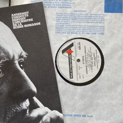 SDDK 396-8 Ansermet conducts Debussy 3 LP box