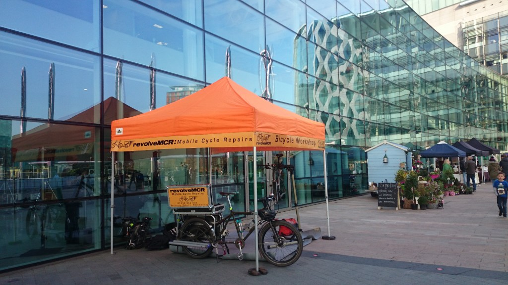 revolveMCR pop-up at Media City, Salford
