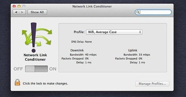 """Download """"Network Link Conditioner"""" to Simulate Internet Connectivity Speed"""