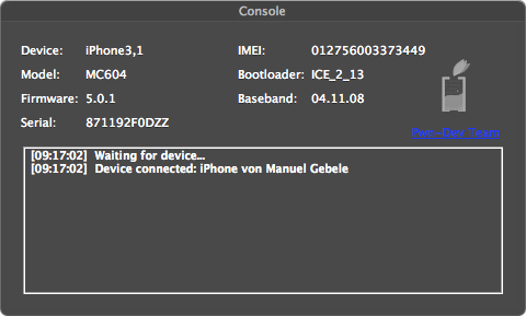 iOS 5.0.1 or 5.0 Jailbreak Using Ac1dSn0w for 3GS,iPhone 4, iPad And iPod touch 4G -2