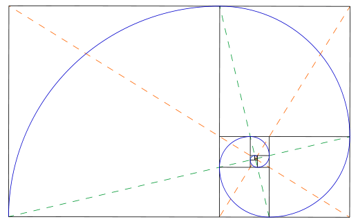 Apple and Golden Ratio, Golden Rectangle, Fibonacci Sequence in the Design-2