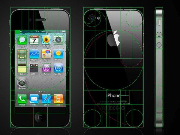 Apple and Golden Ratio, Golden Rectangle, Fibonacci Sequence in the Design-7