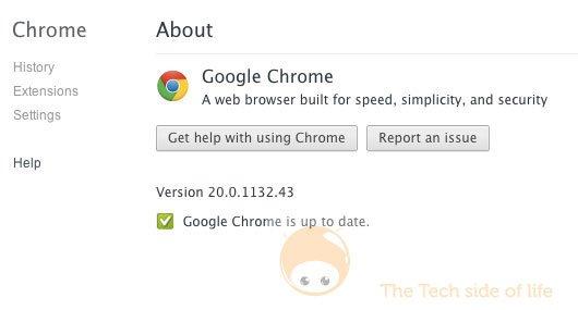 google chrome 20