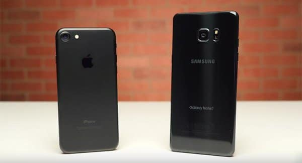 iPhone 7 vs Galaxy Note 7